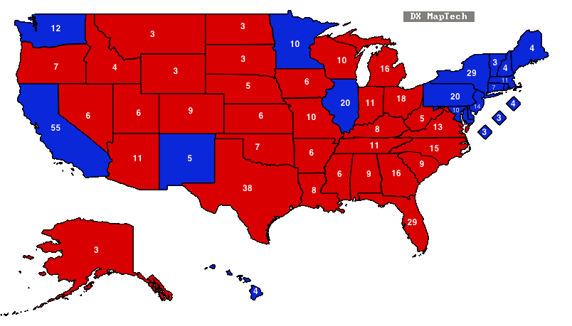 State Color Map Election. Color Coded Map Of Senate Races With State ...