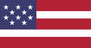 Flag of usn - 10 stars = 10 states, 5 stripes = 5 sectors, 1 sector = 2 states