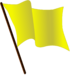 Yellow flag waving