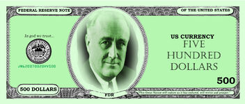 FDR 500 DOLLARS FRONT