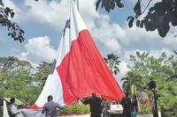 Bandera ondeando de Panama