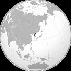 Ubicación Corea del Norte