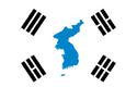 Bandera de la reunificacion coreana