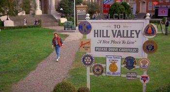 Hill Valley powitanie z 1955