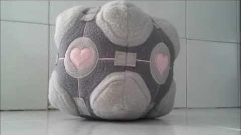 Portal Weighted Companion Cube Plush Toy