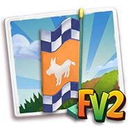 Donkey Racing Flag