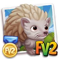 Prized Albino Hedgehog