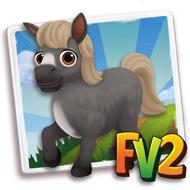 Baby Fur Grey Mini Horse