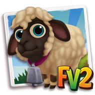 Baby Cream Valais Black Nosed Sheep