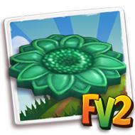 Green Ceramic Sunflower Paver