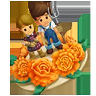 Carnation Cake Topper