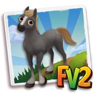 Baby Dappled Wavy Grey Horse