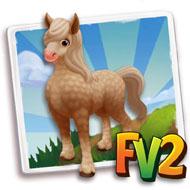 Palomino Curlie Horse
