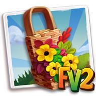 Floral Woven Basket