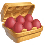 Red Egg Carton