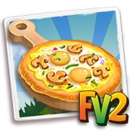 Egg Mushroom Pizza