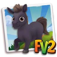 Baby Mini Black Dartmoor Pony
