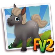 Baby Dapple Straight Grey Mini Horse