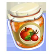 Rose Hip Apple Sauce