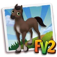 Baby Fur Split Brown Horse