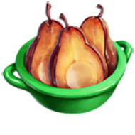 Caramelized Red Pears