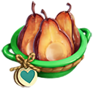 Heirloom Caramelized Red Pears