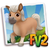 Baby Cream Buckskin Mini Horse
