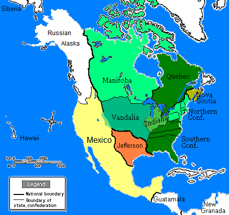 North America In Sobel Wiki FANDOM Powered By Wikia - Map of us in 1805