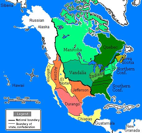 North America in 1860  Sobel Wiki  FANDOM powered by Wikia