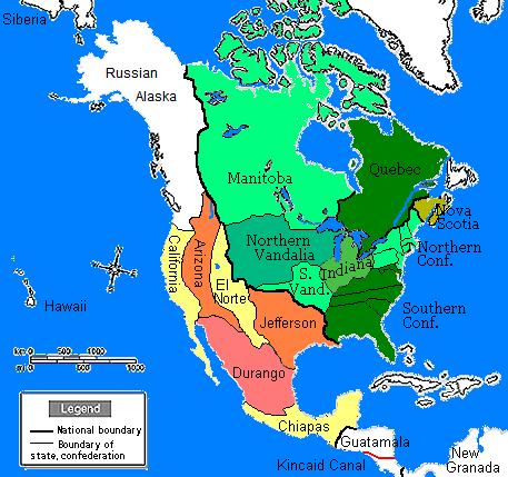 Map Of Arizona 1880.North America In 1880 Sobel Wiki Fandom Powered By Wikia