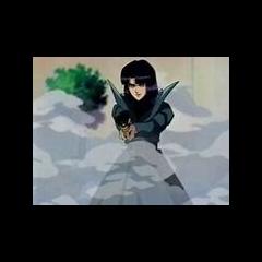 Haruka having a pistol drawn