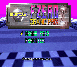 BS F-Zero Grand Prix 2 title screen