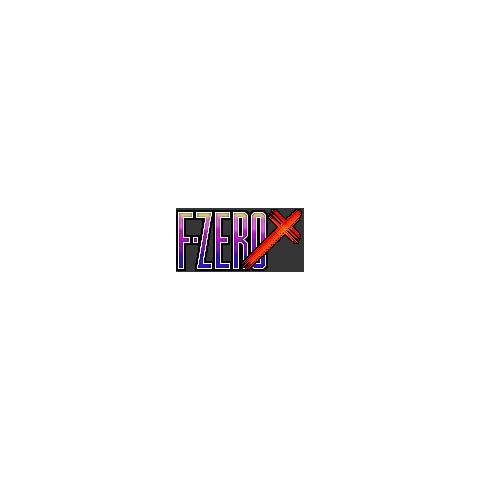 Beta Artwork for the <i>F-Zero X</i> logo.