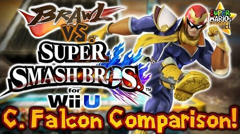 SMC Brawl vs. Smash Bros. Wii U - Captain Falcon Moveset & Model Comparison!