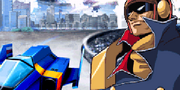F-Zero GP Legend GBA Captain Falcon with Blue Falcon
