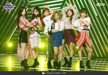 M Countdown LATATA Stage Gidle 8