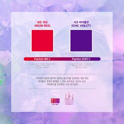 (G)I-DLE Official Color