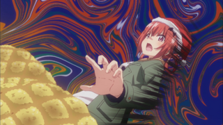 Melon bread tempts Satania