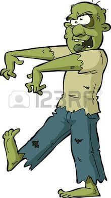 Zombie on a white background illustration