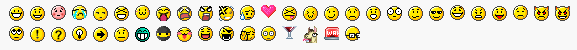 Glossary emoticons - normal