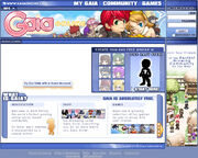Gaiaonline homepage 2005 dec
