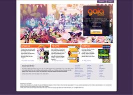 Gaiaonline homepage 2017 feb