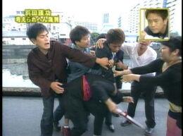 Masatoshi Hamada attacking