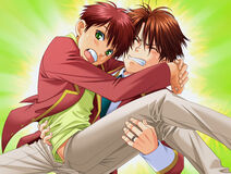 Keita carrying Shunsuke