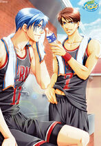 Niwa & Nakajima during a basketball game