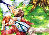 Keita & Niwa lying in the grass