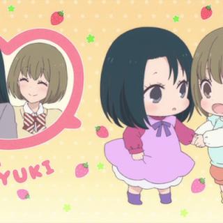 Inomata and Yuki as Toddlers (End Card of Episode 8)