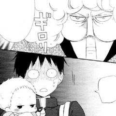 Ryuuichi and Kotarou meet the Chairman