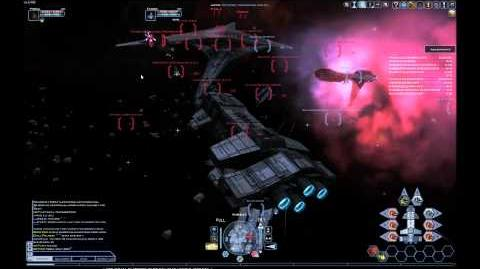 Battlestar Galctica Online - Large Fleet Fight And Basestar Destroyed