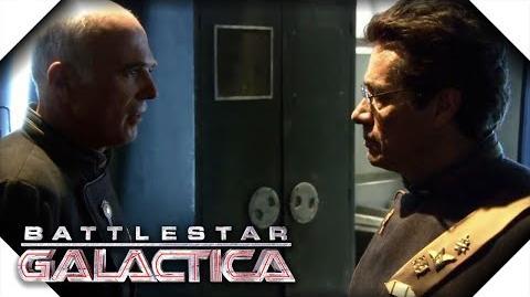 Battlestar Galactica Saul Tigh Has a Hunch